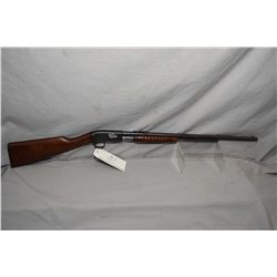 """Remington Model 12 A .22 LR Cal Pump Action Tube Fed Rifle w/ 22"""" bbl [ fading blue finish with some"""
