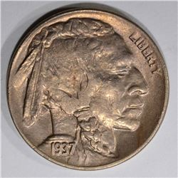 1937-D BUFFALO NICKEL, GEM BU