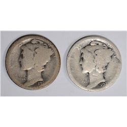 1921 & 21-D MERCURY DIMES, AG KEY DATES