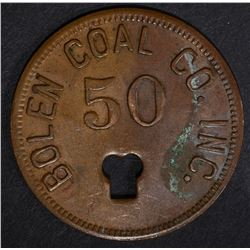 BOLEN COAL CO GOOD FOR 50 TOKEN DAYTON OH