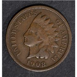 1908-S INDIAN CENT, FINE