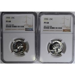 2 - 1955 WASHINGTON QTRS NGC