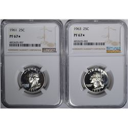 1961 & 1963 WASHINGTON QTRS NGC