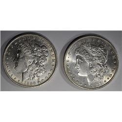 1897 CH BU & 1886-O AU MORGAN DOLLARS