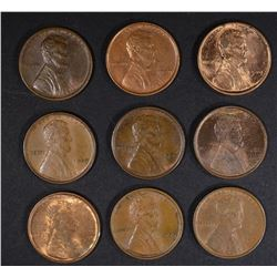 9-1909 VDB LINCOLN CENTS AU/BU-BU some spotted