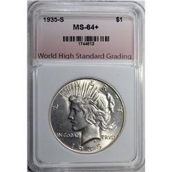 1935-S PEACE DOLLAR WHSG CH/GEM BU+