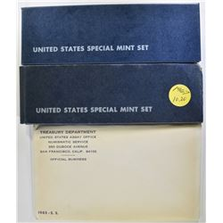 1965.66 & 67 SMS MINT SETS IN ORIG PACKAGING