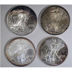 2000, 2-04 & 05 BU AMERICAN SILVER EAGLES