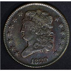 1829 HALF CENT AU/BU