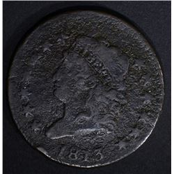 1813 LARGE CENT FINE CORROSION