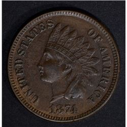1874 INDIAN CENT AU