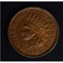 1885 INDIAN CENT AU/BU