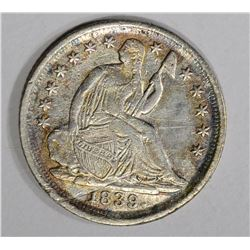 1839-O SEATED LIBERTY HALF DIME  XF