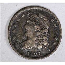 1837 CAPPED BUST HALF DIME  F-VF