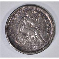 1852 SEATED LIBERTY HALF DIME  XF-AU