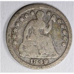 1849/8 SEATED LIBERTY HALF DIME