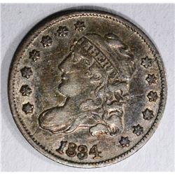 1834 CAPPED BUST HALF DIME  XF-AU