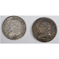 2 CAPPED BUST HALF DIMES: