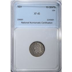 1831 CAPPED BUST DIME  NNC XF