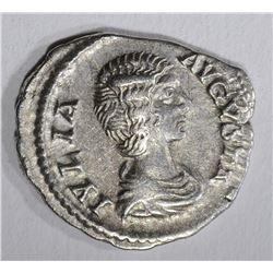 217 AD SILVER DENARIUS JULIA DOMNA ROME