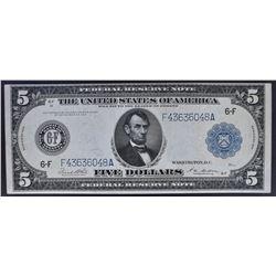 1914 $5 FEDERAL RESERVE NOTE  CU