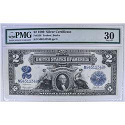 1899 $2 SILVER CERTIFICATE  PMG 30
