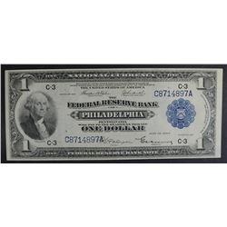 1918 $1 NATIONAL CURRENCY  NICE AU