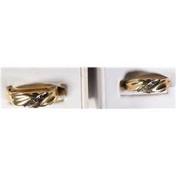 2 - 14k COMFORT FIT GOLD/DIAMOND BANDS