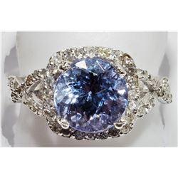 14K TANZANITE DIAMOND RING