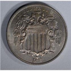 1868 SHIELD NICKEL CH BU
