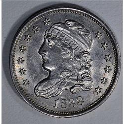 1833 BUST HALF DIME AU/BU