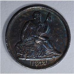 1837 SEATED LIBERTY HALF DIME XF/AU