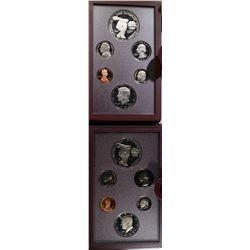 2-1983  U.S. PRESTIGE PROOF SETS ORIG BOXES/COA