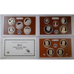 2012 U.S. PROOF SET BOX/COA
