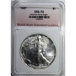 1987 AMERICAN SILVER EAGLE WHSG