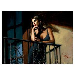Saba at the Balcony VIII - Black Dress by Perez, Fabian