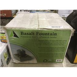 Basalt Fountain Decorative Indoor Fountain w/ LED Lighting