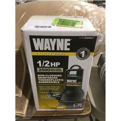 Wayne Utility Pump 1/2 HP 2500 Gallons/hr