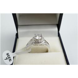 925 Sterling Silver Solitaire Ring - Swarovski Ele