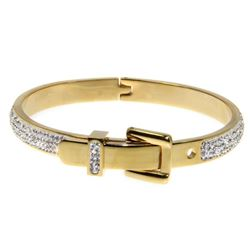 Ladies Custom Bracelet with Yellow Gold Plating. 4