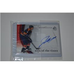 2005-06 SP Authentic Sign of the Times #BW Jay Bouwmeester