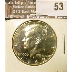 1969-S Proof Kennedy Half Dollar, 40% Silver, value $8