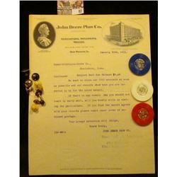 "Several Omaha, Nebraska & a Des Moines, Ia. ""John Deere Plow Co."" Letters on letter heads from 1911-"