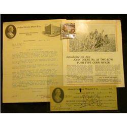 "Advertising Brochure ""Introducing the New John Deere No. 25 Two-Row Push-Type Corn Picker""; 1913 Adv"