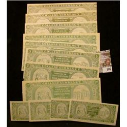 "12 Piece Set, which ""Doc"" had labeled as ""Unlisted"" College Currency. He had it valued at $175.00. D"