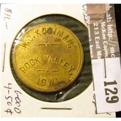 Ferguson 565 Rock Valley, Iowa Good For 50c in Trade Token, Brass, EF.