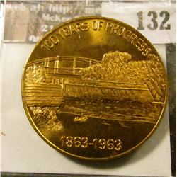 """199 Years of Progress/1863-1963"", ""Coon Rapids, Iowa Centennial…"", Brass, BU."