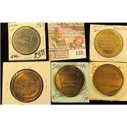 (5) Different Iowa Centennial Medals, all brass. Includes Sloan, Farnhamville, Red Oak, Rock Valley,