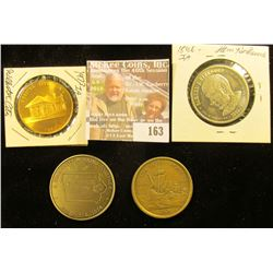 1974 Ricketts, Iowa Diamond Jubilee Medal; 1973 Webster City, Iowa brass medal; State of Iowa Medal