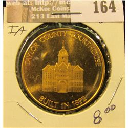 "1776-1976 ""Taylor County Courthouse/Built in 1892"", brass medal, BU."